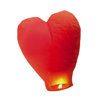 Farolillo chino corazón rojo - The Wedding Shop