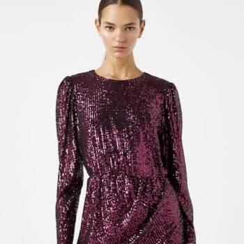 Pink sequin mini dress Pull&Bear $999