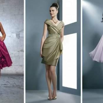 Coupe ajustée ou plus ample, coloris variés : toutes les invités vont trouver la robe de leur rêve ! Demetrios 2012