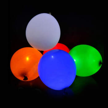 Globos de color con leds 5 unidades- Compra en The Wedding Shop