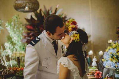 Casamento colorido e inspirado em cordel: Rayane e Rodrigo