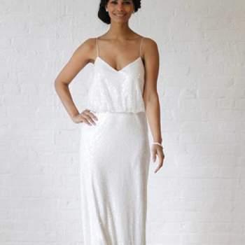 Glamour. Crédit photo : Robe de mariée David´s Bridal 2013  New York Bridal Fashion Week, printemps 2013.