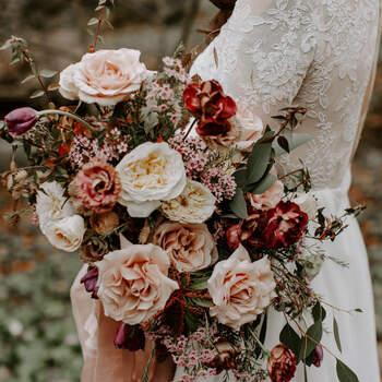 As rosas são românticas, delicadas e bonitas | Créditos:  Winsome Floral