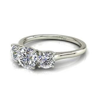 Photo : Diamants et Carats - Modèle : Alizia 0,50 carats en or blanc