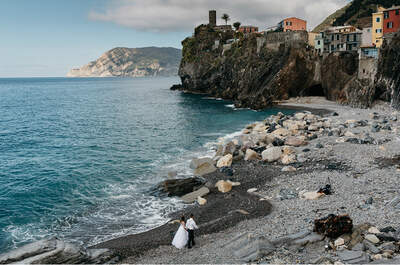 Sesja ślubna w krainie pięciu miasteczek położonych na skałach tuż przy Morzu Liguryjskim! Zjawiskowa!