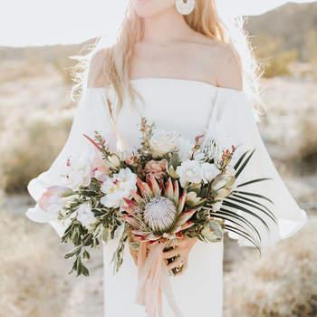 Bouquet de mariée fleurs blanches  Lillywhite Photography