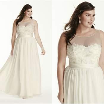 01d7144cf Tallas L y XL en vestidos de novia 2016. ¡Para mujeres que sí tienen curvas!  Ver 19 fotos. Credits  David´s Bridal Credits  David´s Bridal ...