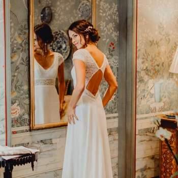 Robe de mariée romantique en dentelle modèle