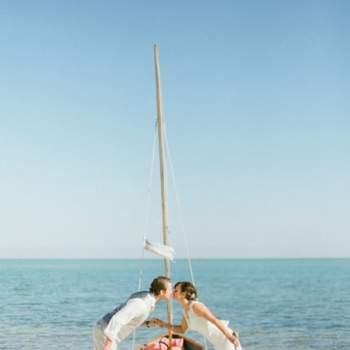 Fotos românticas na praia. Foto: KT Merry Photography