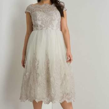 Chi Chi London Grey Curve Cap Sleeve Dress. Credits: Dorothy Perkins
