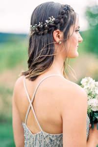 Coiffures de mariée à tresses 2017