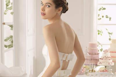 Elegante e impecable a cada paso: Vestidos de novia 2015 de Aire Barcelona con románticos lazos