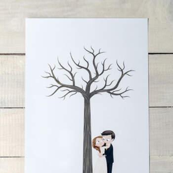 Libro De Firmas Novios Románticos- Compra en The Wedding Shop