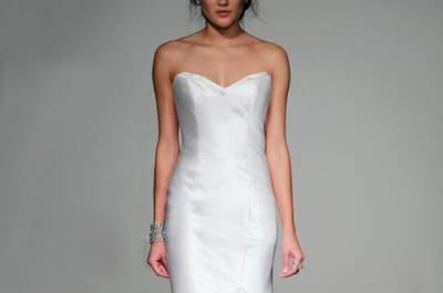 9 sencillos y elegantes vestidos de novia corte sirena de 2013