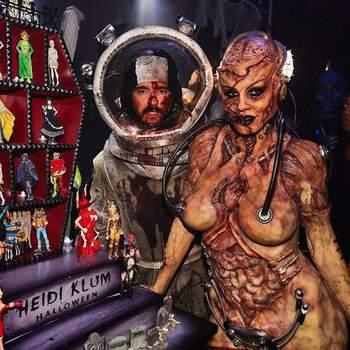 Heidi Klum e  Tom Kaulitz no Halloween. Foto IG @heidiklum