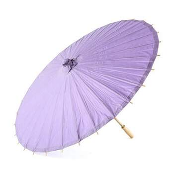 Parasol en papier et bambou lilas -  The Wedding Shop !