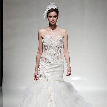 Dress by Anna Romysh Haute Couture. Image: Christopher Dadey for White Gallery 2014