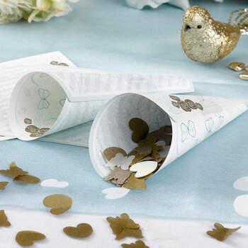 Foto: Cono papel para pétalos mariposas