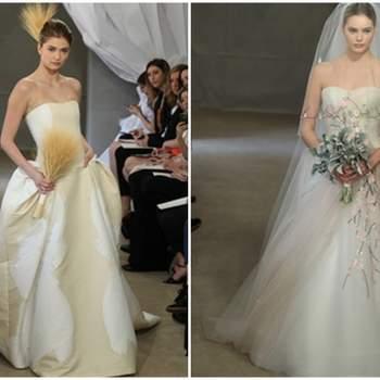 Vestidos de novia con estampados, inspirados en la naturaleza.