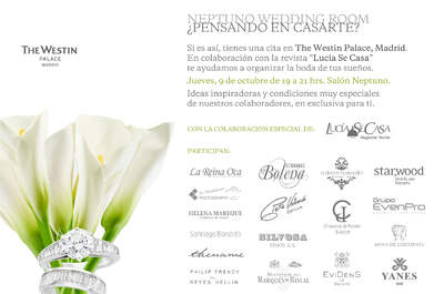 Neptuno Wedding Room: el evento wedding del momento en el Westin Palace de Madrid, ¡no te lo pierdas!