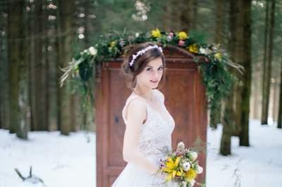 Heiraten zur Weihnachtszeit kann so romantisch sein – Foto: Tony Gigov