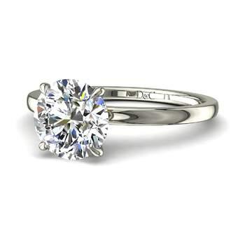Photo : Diamants et Carats - Modèle : Bella, diamant rond