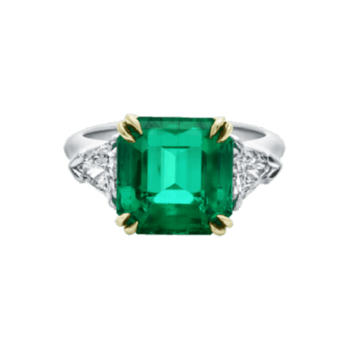 Emerald Cut Emerald Ring. Credits: Harry Winston.