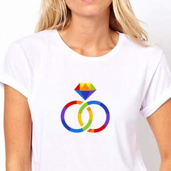 Camiseta mujer arco iris- Compra en The Wedding Shop