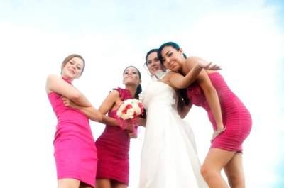 3 Divertidas ideas para hacer una sesión de fotos con tus damas de boda