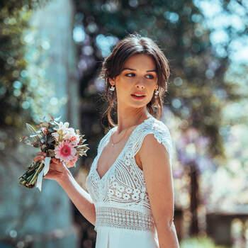 Photo : Guillaume Gilles - Elsa Gary, robe de mariée Renouveau