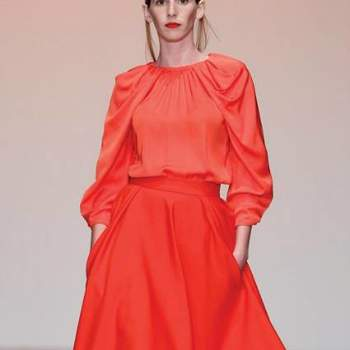 Vestido de festa cor-de-laranja, by Nuno Baltazar Out. 2012.