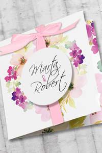 Zaproszenia ślubne z kwiatowym dodatkiem