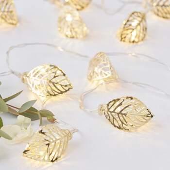 Lumières feuilles d'or - The Wedding Shop !