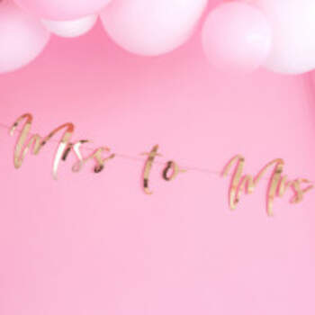Banderole Miss To Mrs Rose Gold - The Wedding Shop !