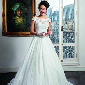 Photo : Les Mariées de Talia - Bella Créations, robe Shivali