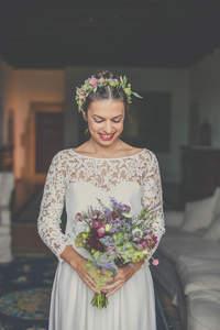 Coronas de flores para novias 2017