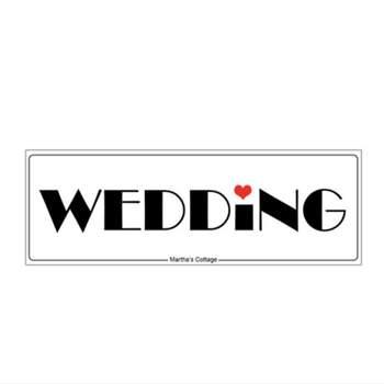 Plaque De Voiture Wedding Love - The Wedding Shop !