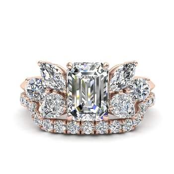 Photo : Diamants et Carats - Modèle : Lucie émeraude 2 carats or rose