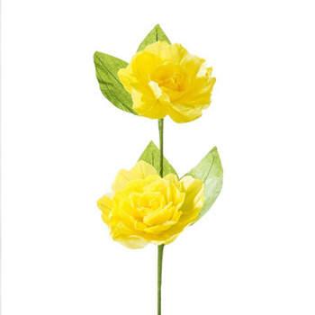 Flores Decorativas Amarillos De Papel