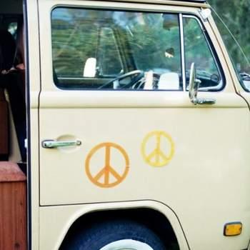 Furgoneta hippie.