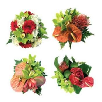 Kit Passion, pensez à ces 4 centres de table de 15 cm de diamètre environ, ils embelliront votre réception ! - Crédit photo: Fleurs Lointaines