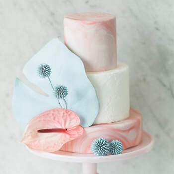 Foto: Twin Lens Weddings - pastel de boda elegante