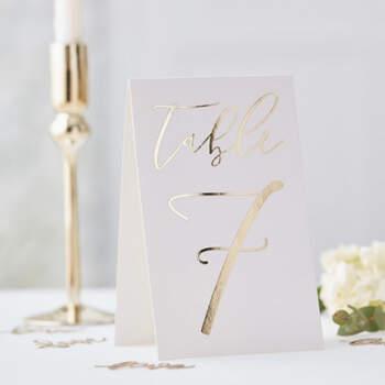 Marcasitios caballero oro de boda de 1 a 12- Compra en The Wedding Shop
