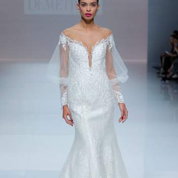 Demetrios 2019. Credits: Barcelona Bridal Fashion Week