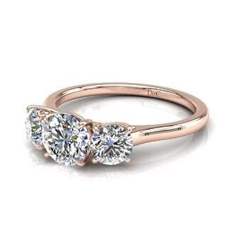 Photo : Diamants et Carats - Modèle : Alizia 0,50 carats et or rose