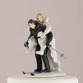 Cake Topper Époux Sur Les Skis - The Wedding Shop !