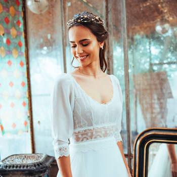 Photo : Guillaume Gilles - Elsa Gary, robe de mariée Le temps des noces