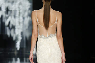 Open back bridal beauty for 2016, set that sexy yet sophisticated look for your wedding