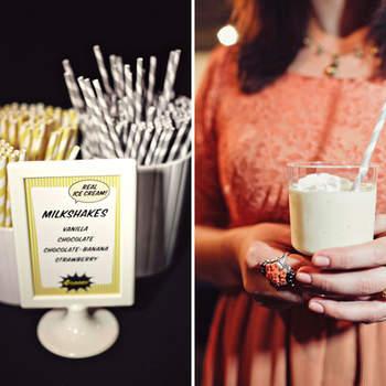 Décoration amusante et fantaisiste pour votre buffet de mariage. Photo : Green Wedding Shoes