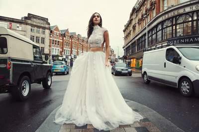 Vestidos de novia cuello cisne. ¡Escoge un diseño discreto y elegante!